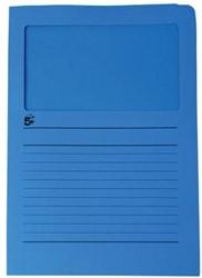 A4 (22x31 cm) Uit karton van 120 g/m2                    Donkerblauw