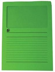 A4 (22x31 cm) Uit karton van 120 g/m2                    Donkergroen