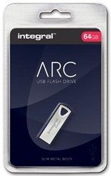 Integral ARC USB stick 2.0, 64 GB, zilver