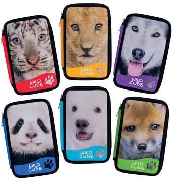 Carioca gevulde pennenzak 3-laags Wild Cubs