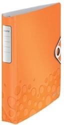 A4 ringmap Leitz in Wow oranje met 4D-ringen van 30 mm