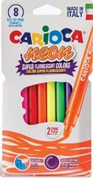 Carioca viltstift Neon, ophangzakje met 8 stuks in geassorteerde kleuren
