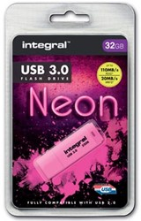 Integral Neon USB 3.0 stick, 32 GB, roze