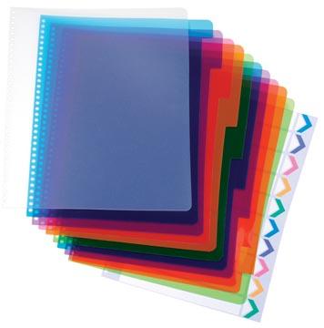 GBC Tabbladen PolyDividers pak van 10 stuks