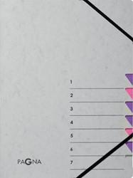 Pagna sorteermap Easy Grey voor ft A4, 7 vakken, paars