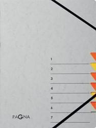 Pagna sorteermap Easy Grey voor ft A4, 7 vakken, oranje