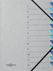 Pagna sorteermap Easy Grey voor ft A4, 12 vakken, blauw
