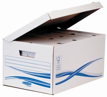 Bankers Box basic, flip top maxi inclusief 6 transfer archiefdozen ft A4 met een rug van 8 cm