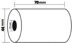 Kassarollen 44 x 80 x 12 mm pak van 10 stuks