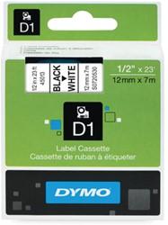 Dymo D1 tape 45013 12mm zwart op wit