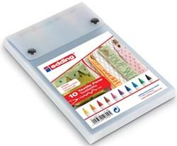 Edding textiel Pen e-4600 doos van 10 stuks in geassorteerde kleuren