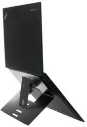 R-Go Riser laptopstandaard antislip, zwart