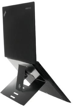 Laptopstandaard R-GO Tools antislip zwart voor laptops tot 22 inch