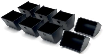 Safescan muntbakjes voor kassalades serie 4617, zwart set van 8 stuks