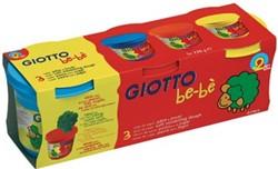 Giotto be-bè boetseerpasta, doos met 3 x 220 g in primaire kleuren