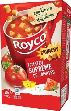 Royco Minute Soup tomatensuprême + korstjes