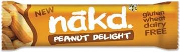 Nakd Peanuts Delight reep van 35 gr pak van 18 stuks
