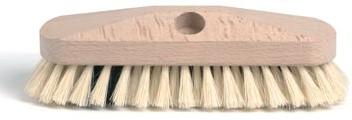Schuurborstel met tampico haren uit ongelakt hout 23 cm