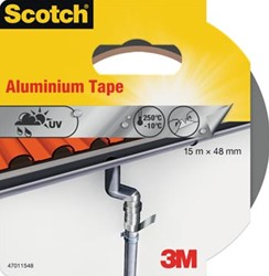 Scotch reparatieplakband aluminium, ft 48 mm x 15 m, blisterverpakking