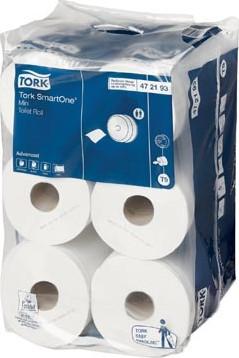 Tork toiletpapier SmartOne Mini 2-laags 111 meter systeem T9, pak van 12 rollen