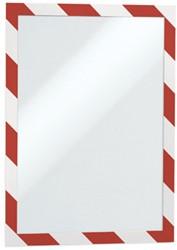 Wandfolderhouder A4 zelfklevend roodwit