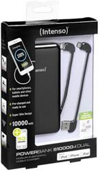 INTENSO POWERBANK SLIM S10000-I DUAL 7335530 10.000mAh schwarz