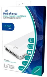Powerbank 10000mAh mediarange 3 USB