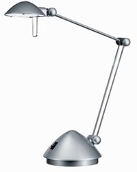 Hansa bureaulamp Madrid, LED-lamp, zilver