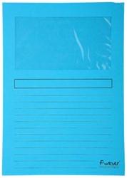 Exacompta L-map met venster Forever® lichtblauw, pak van 100 stuks