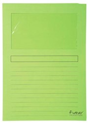 Exacompta L-map met venster Forever® groen, pak van 100 stuks