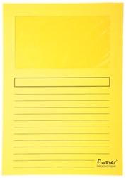 Exacompta L-map met venster Forever® geel, pak van 100 stuks