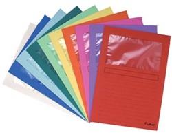 Exacompta L-map met venster Forever® geassorteerde kleuren, pak van 10 stuks