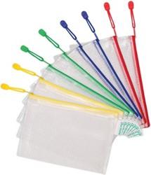 Tarifold opbergtas met rits, ft A5, pak van 8 stuks in geassorteerde kleuren