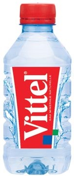 Vittel water flesje van 33 cl, pak van 24 stuks