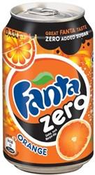 Frisdranken Fanta Zero Orange, pak van 24 stuks