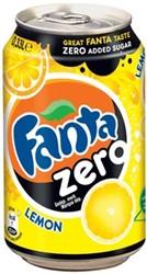 Frisdranken Fanta Zero Lemon, pak van 24 stuks