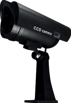 Pavo imitatiecamera met LED-lampje kleur zwart