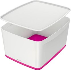 Leitz MyBox opbergdoos met groot deksel, roze
