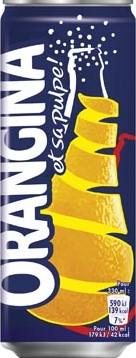 Orangina blik 33cl pak van 24 stuks