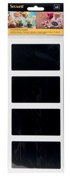 Krijtbord Securit sticker zelfklevend rechthoekig blister met 8 stuks