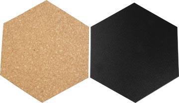 Betere Krijtbord en prikbord kurk, set van 7 stuks 15,5 x 18 cm bij Pro IW-48