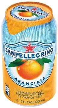San Pellegrino limonata sinaasappel blik 33cl pak van 6 stuks
