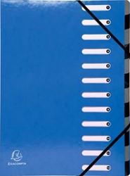 Exacompta Iderama sorteermap, 12 vakken, met elastosluiting, donkerblauw