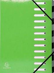 Exacompta Iderama sorteermap, 12 vakken, met elastosluiting, groen