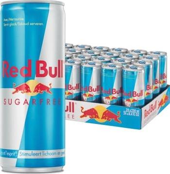 Red bull energiedrank sugarfree 25cl pak van 24 stuks