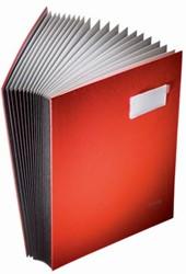 Leitz handtekenmap 20 vakken rood