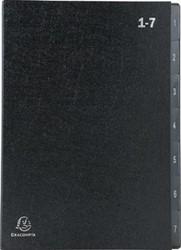 Exacompta sorteermap Ordonator 8 vakken met tabs 1-7, zwart