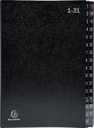 Exacompta sorteermap Ordonator 32 vakken met tabs 1-31, zwart