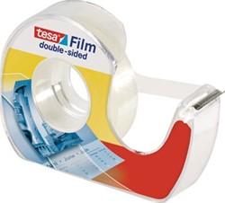 Tesa dubbelzijdige plakband op blister, met dispenser, 12 mm x 7,5 m