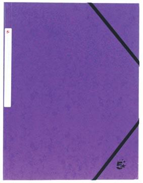 5Star Elastomap met kleppen paars